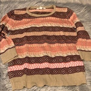 FOREVER 21 sweater pink/tan/plum